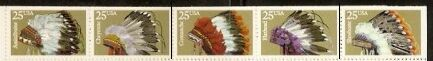 US Stamp #2505a MNH – Indian Headdresses Booklet Pane