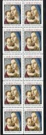 US Stamp #2514b MNH – Madonna and Child Booklet Pane