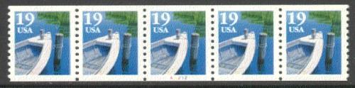 US Stamp #2529 MNH – Fishing Boat PNC5 #A1212