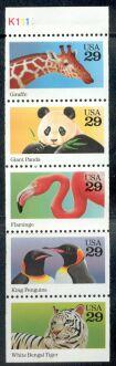 US Stamp #2709a MNH – Wild Animals Booklet Pane