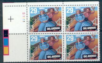 US Stamp #2722 MNH – Oklahoma – Plate Block of 4