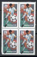 US Stamp #2834 MNH – Soccer 29cent – Block 4