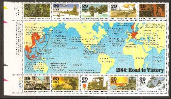 US Stamp #2838 – World War II – 1944 Plate Block/10