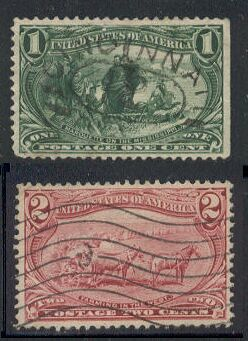 US Stamp # 285-286 – 1 and 2 cent Trans-Mississippi Issues