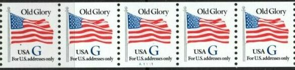US Stamp #2889 MNH – Black 'G' Rate – PNC5 Coil