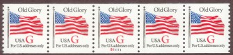 US Stamp #2891 MNH – Red 'G' Rate – PNC5 Coil