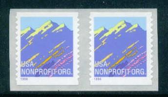 US Stamp #2904B MNH – Purple Mountains Coil Pair