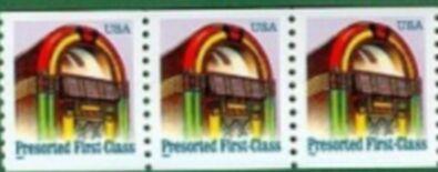 US Stamp #2911 MNH – Jukebox Coil Strip of 3