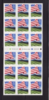 US Stamp #2919a MNH – Flag Over Farms Fold it Yourself