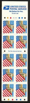 US Stamp #2920De MNH – Flag Over a Porch Fold it Yourself