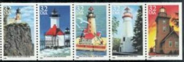 US Stamp #2973a MNH – Lighthouses Booklet Pane