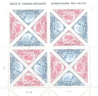 US Stamp #3130-1 MNH – Pacific 97 – Full Sheet of 16
