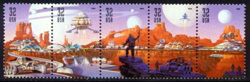 US Stamp #3238-42 MNH – Space Discovery Se-Tenant Strip of 5