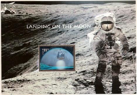 US Stamp #3413 Landing on the Moon -Hologram of Lunar Lander