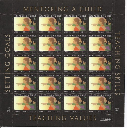 US Stamp #3556 MNH Mentoring A Child Full Sheet of 20