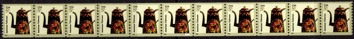 US Stamp #3612 MNH – Coffee Pot – PS11 #S1111111 Coil