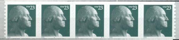 US Stamp #3617 MNH – George Washington PNC5