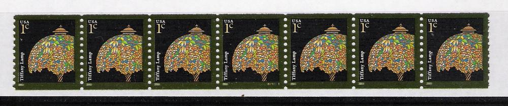 US Stamp #3758 MNH – Tiffany Lamp – PS7 #S11111 Coil