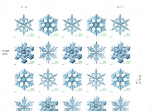 US Stamp #4101-4104 – Snowflakes Complete Sheet of 20