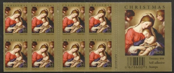 US Stamp #4424a MNH – Madonna and Child w/ Plate #P1111
