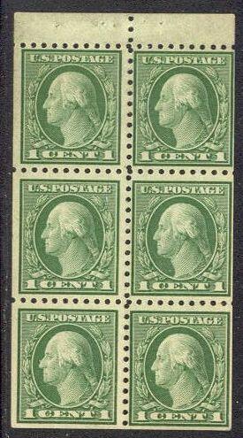 US Stamp # 462a MNH – George Washington Booklet Pane