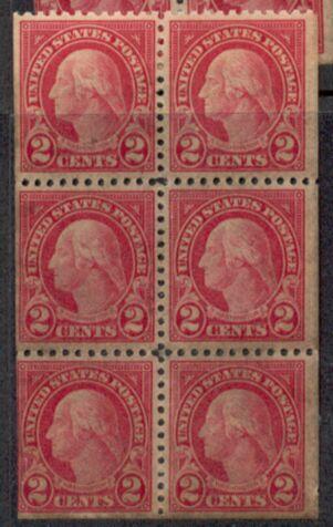 US Stamp # 554c MNG – George Washington Booklet Pane