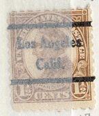 US Stamp # 582×44 W. Harding w/ Los Angeles CA Precancel