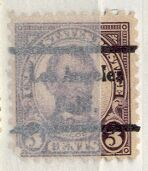 US Stamp # 584×44 A. Lincoln w/ Los Angeles CA Precancel