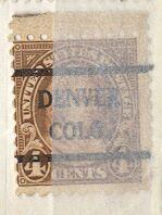US Stamp # 585×42 M.Washington w/ Denver Colo. Precancel