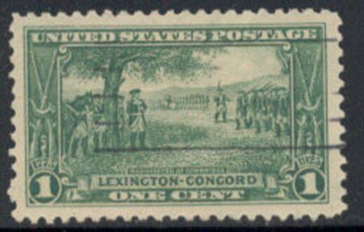 US Stamp # 617 – Lexington-Concord – Washington at Cambridge