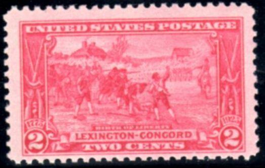 "US Stamp # 618 MNH – Lexington-Concord – ""Birth of Liberty"""