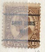 US Stamp # 633×61 W. Harding w/ St. Louis MO. Precancel