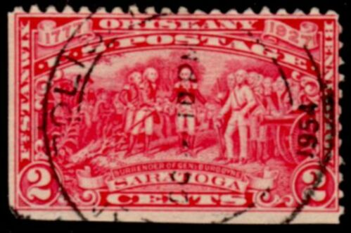 US Stamp # 644 – Burgoyne Campaign Issue