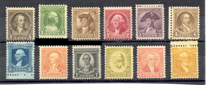 US Stamp # 704-715 Mint – George Washington Bicentennial Issue