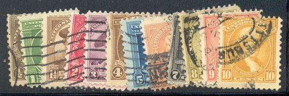 US Stamp # 704-715 – George Washington Bicentennial Issue