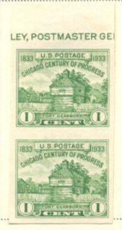 US Stamp # 766a – Farley Special Printing Vertical Pair