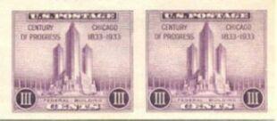 US Stamp # 767a – Farley Special Printing Horizontal Pair