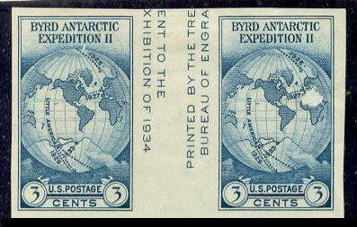 US Stamp # 768a – Farley Special Printing Horizontal Pair