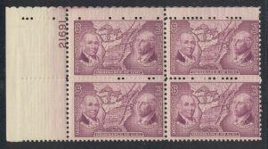 US Stamp #795 – Ordinance of 1787 – Plate Block / 4