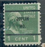 US Stamp # 804×61 Washington w/ Joplin MO. #61 Precancel