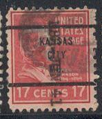 US Stamp # 822×63 – Andrew Johnson – w/ Kansas City Precancel