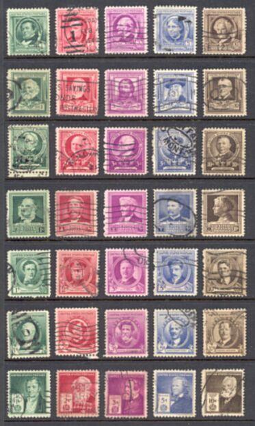 US Stamp # 859-893 FANTASTIC Complete Set of Famous Americans