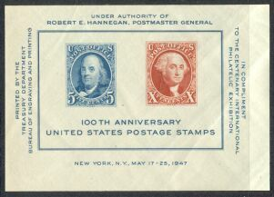 US Stamp # 948 MNH 100th Anniversary of Stamps Souvenir Sheet