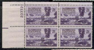 US Stamp #954 MNH – California Gold – Plate Block / 4