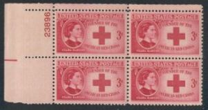 US Stamp #967 MNH – Clara Barton – Plate Block / 4