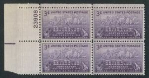 US Stamp #970 MNH – Fort Kearny – Plate Block / 4