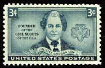 US Stamp # 974 MLH Juliette Low Single