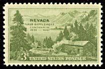 US Stamp # 999 Mint Nevada Statehood Single