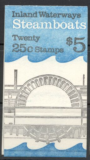 US Stamp #BK166 MNH – Steamboats w/4 #2409a Panes