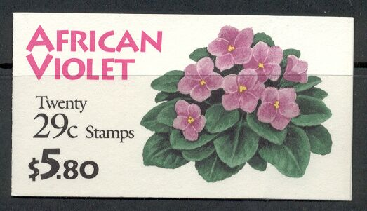 US Stamp #BK177 MNH – African Violets w/ 2 #2486a Panes